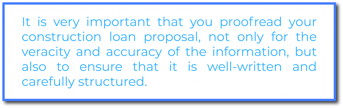 proofread construction loan proposal